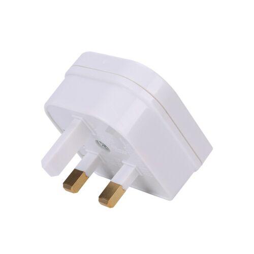 EU Euro 2Pin to UK 3Pin Plug AC Universal Adapter Travel Converter European usea