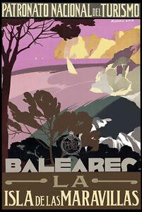 TT78-Vintage-Balearic-Islands-Spain-Spanish-Travel-Poster-A3-A2