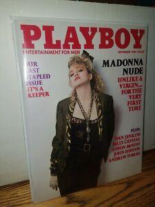Playboys Magazine September 1985 MADONNA Nude Last