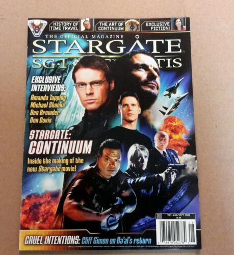 Stargate SG-1 Official Magazine #23 Aug//Sept 2008
