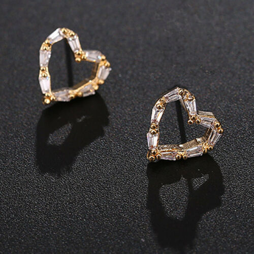 925 Sterling Silver//Gold /& Metal Crystal Rhinestone Ear Stud Earrings Bee Love