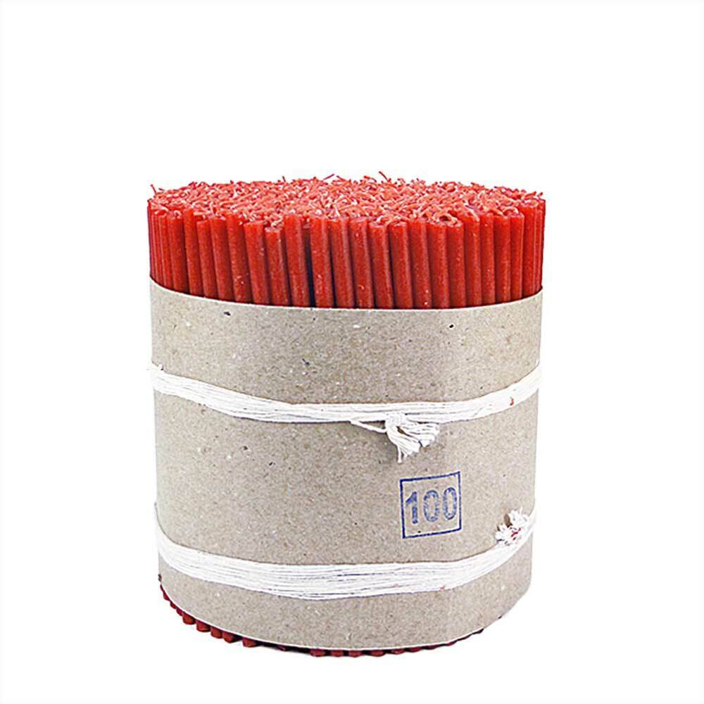 4kg (1000 pcs.) Red altar Candles thin Easter candles length 16 cm high quality