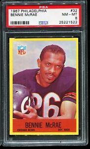 1967-Philadelphia-Football-32-BENNIE-McRAE-Chicago-Bears-PSA-8-NM-MT