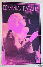 Vintage Original Hollywood FEMMES FATALES Poster Jean Harlow 1974 Walker Art Ctr