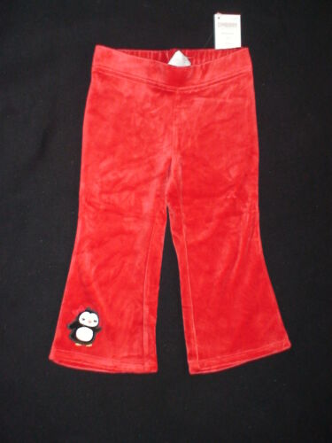 NWT GYMBOREE WINTER PENGUIN RED VELOUR CASUAL PANTS