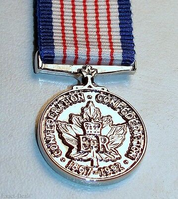 Canadian 125th Anniversary of the Confederation of Canada Medal  Miniature Medal