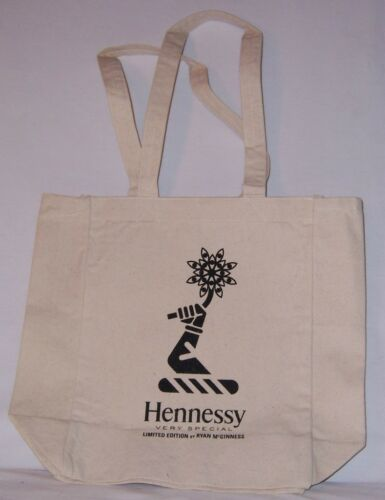 Lot of 2 HENNESSY VS LIMITED EDITION BY RYAN MCGINNESS Canvas TOTE BAG w//Handles