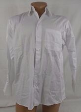 Kenneth Cole Reaction With Breast Pocket Dress Shirt 15.5 32/33  White 63T