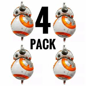 """Star Wars BB8 Balloon 30"""" - 4 Foil Birthday Party Decorations Supplies"""