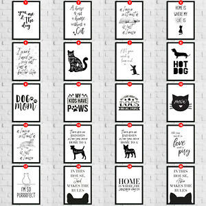 Pet-Lovers-Cat-Dog-Room-Wall-Quote-Hangings-Art-Print-Home-Decoration-Kitchen