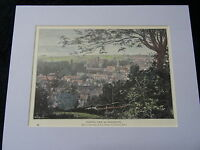 C1895 Hand Coloured & Mounted Print/Engraving of View of Winchester
