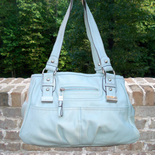 Handbag - Tyler Rodan Vassar Satchel - Light Aqua
