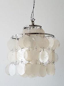 verner panton lustre suspension en nacre edition luber 1960 vintage 60 39 s 70 39 s ebay. Black Bedroom Furniture Sets. Home Design Ideas