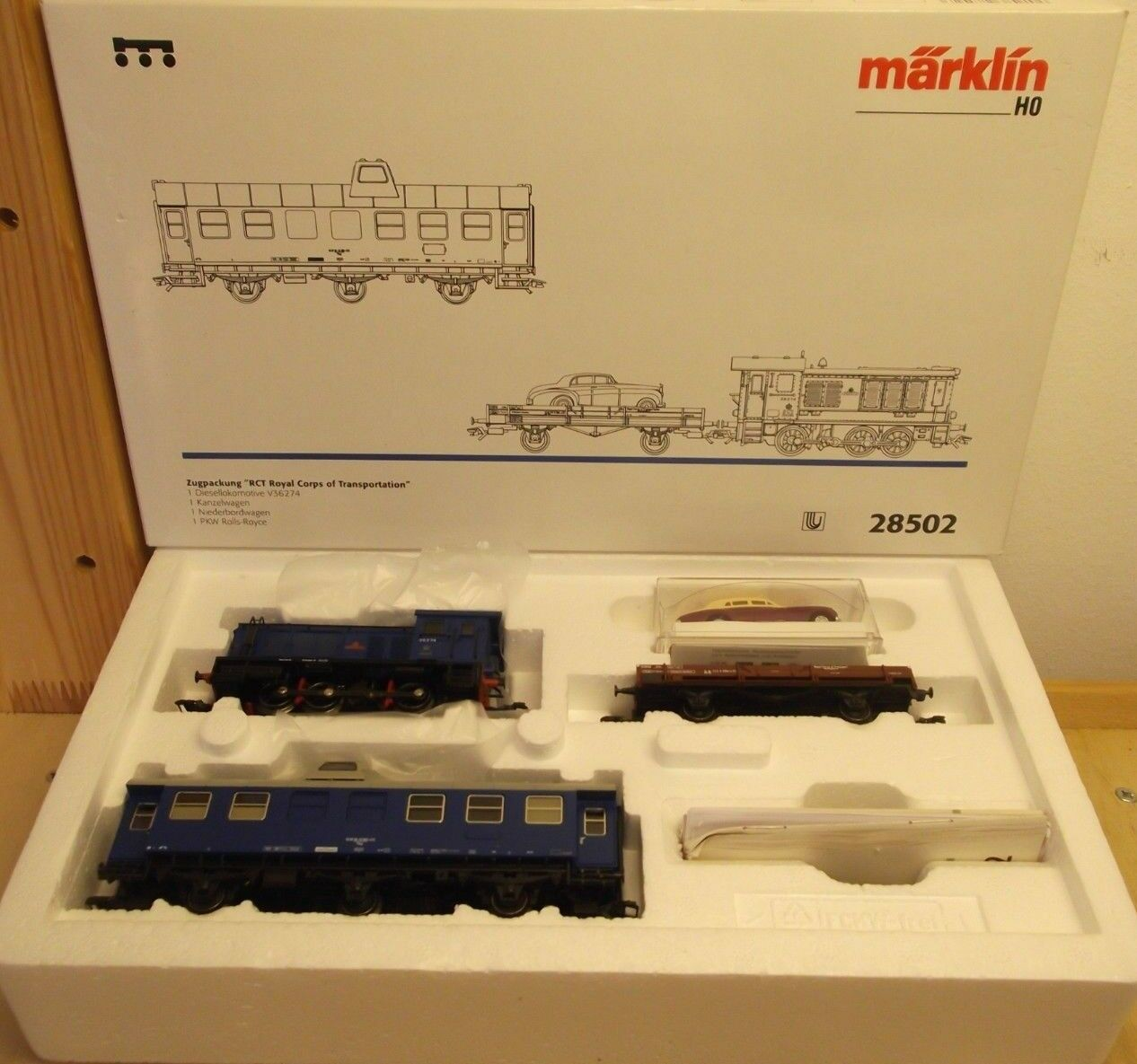 Märklin h0 28502 zugset Royal Corps of Transportation digital con br 36 nuevo embalaje original