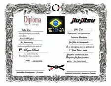 Isshinryu Custom certificate 11x14