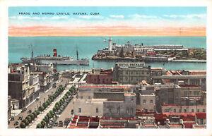 R320896 Cuba. Havana. Prado and Morro Castle. Roberts. Evans Brothers. 1933
