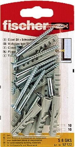 Fischer Spreizdübel XS mit Senkkopfschraube Kreuzschlitz verschiedene Größen