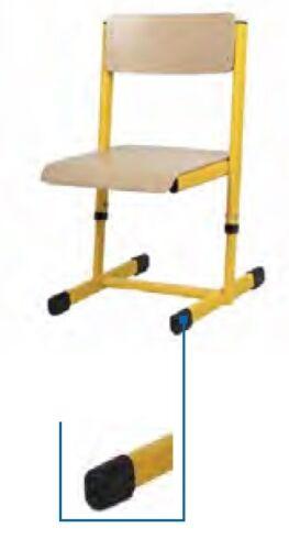 Gleiter für Ovalrohr optional mit Filzgleiter Filz Stuhlgleiter Fußkappe Kappe