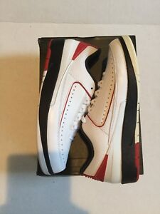 a5eb0a56d36e20 Air Jordan Mens Retro 2 Low Nike 832819 101 Black White Red Bred ...