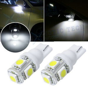 6000K T10 LED License Plate Light Bulbs 6000K Bright White 168 2825 194 2PCS