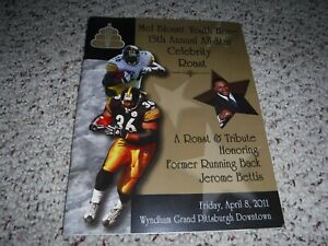 PITTSBURGH-STEELERS-MEL-BLOUNT-SIGNED-CELEBRITY-ROAST-PROGRAM-JEROME-BETTIS-2011