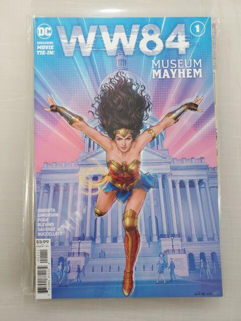 DC Comics Ni/ñas Wonder Woman 84 Star Design Camisa De Entrenamiento