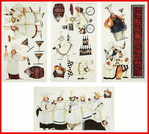 Details About Italian Fat Chefs Wall Decals Kitchen Chef Stickers Cooking Cafe Decorations