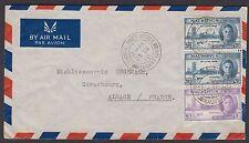 Mauritius 1946 Port Louis, White Imperial Hanappier Bordeaux wine bottle sticker
