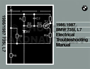 1986-1987 BMW 735i and L7 Electrical Troubleshooting Manual Wiring ...