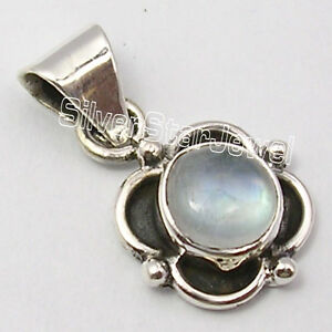 Image Is Loading 0 99 Cent Auction 925 Silver RAINBOW MOONSTONE