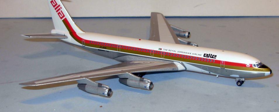 Aviation 200 Alia-Royal Jordanian B707-300 1 200 escala Diecast avión