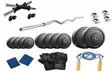 Protoner   42 Kgs With 3 Rods PVC Weight Lifting Home Gym Fitness Pack