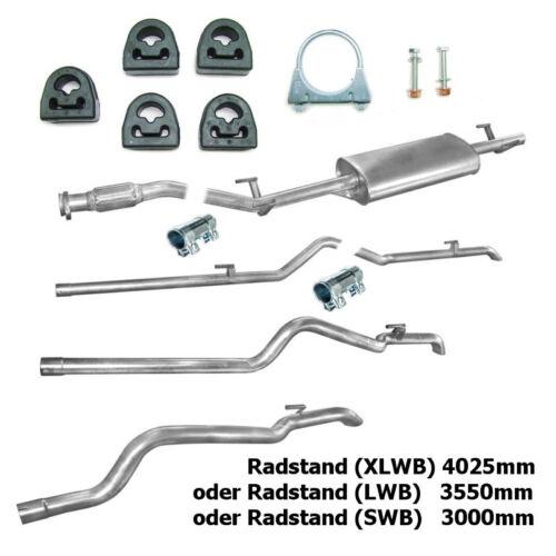 Auspuff 3-teiliges Mercedes Sprinter 210 212 D 310 312 D TD Montageware