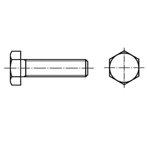Toolcraft 128226 viti testa esagonale m6 30 mm din 933 acciaio 100 pz