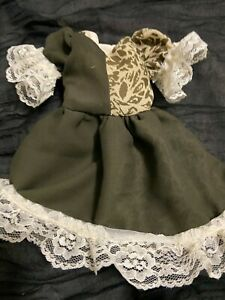 "Lacy Mint Green Doll Dress for Dianna Effner Dolls and Other 13/"" Dolls"