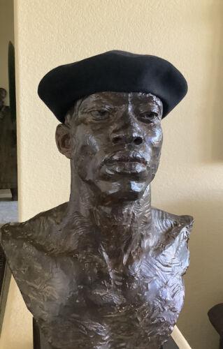 VINTAGE FRENCH BASQUE BLACK BERET 100% WOOL SIZE L