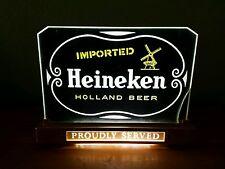 VTG UNION MADE IMPORTED HEINEKEN HOLLAND BEER BAR TOP LIGHT PROUDLY SERVED