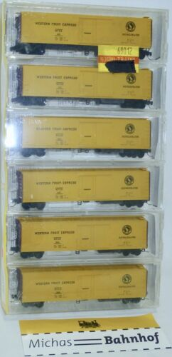 6x Great Northern WFEX 51/' Mech Reefer Micro Trains Line 69012 1:160 OVP W16å