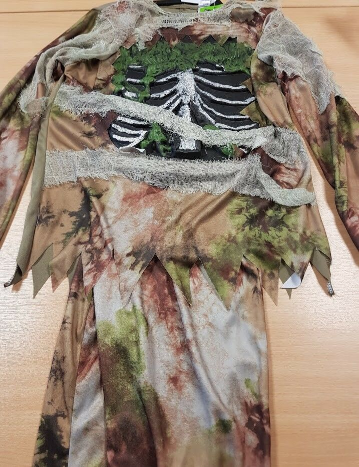 Children's Zombie Fancy Dress Costume Halloween with Mask Aged 9-10