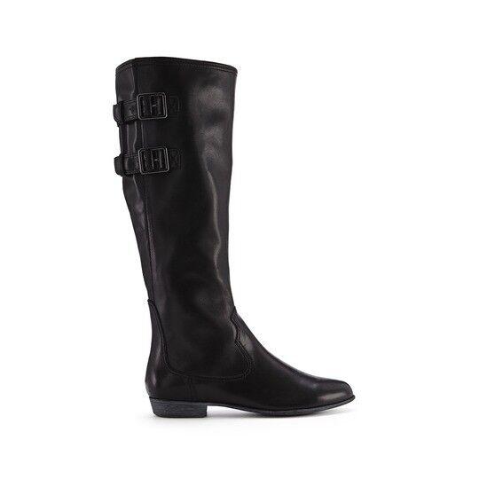 Nuevo Clarks Lucas Dawson Negro Knee High Cuero Botas-UK Size 4D