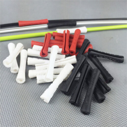 10Pcs Bike Bicycle Rubber Derailleur Pipe Outer Brake Line Cable Wrap Protection