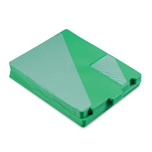 Smead End Tab Poly Out Guides - Printedout - 12.75  X 9.50  - 50   Box - Green