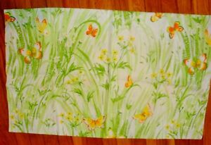 Vintage Yellow and Orange Butterfly Pillowcase