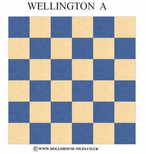 "Dolls house miniatures Wellington 1 /""Pack de plancher Poupées Maison Carreaux /& parquet"