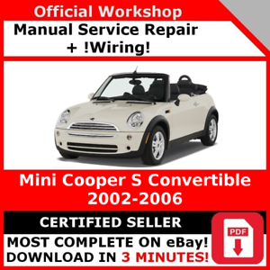 factory workshop service repair manual mini cooper s convertible rh ebay ie 2006 mini cooper repair manual pdf 2006 Mini Cooper S Console