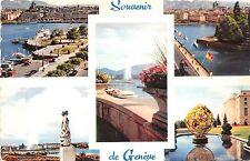 BR28337 Geneve la rade le pont du mont blanc le jet d eau switzerland