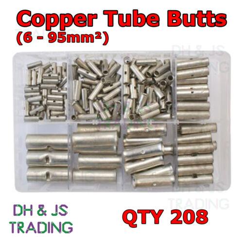 6-95mm² Caja de Surtido de Cobre Tubo colillas cantidad 208 conector trasero