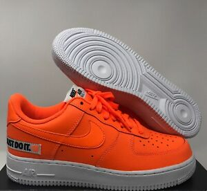 Details about Nike Air Force One 1 '07 JDI Leather AF1 Total Orange White BQ5360 800 Pick Size