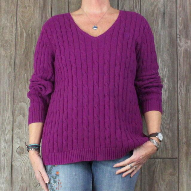 Calvin Klein - Calvin Klein NEW Purple Women Size Small S Chain Knit Turtleneck Sweater