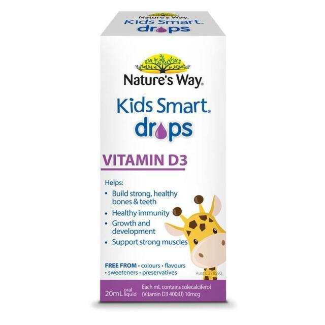 Nature's Way Kids Smart Vitamin D Drops 20ml Support Good Health in Infants